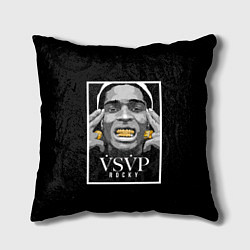 Подушка квадратная ASAP Rocky: Gold Edition цвета 3D — фото 1