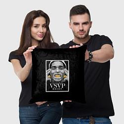 Подушка квадратная ASAP Rocky: Gold Edition цвета 3D-принт — фото 2