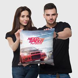 Подушка квадратная Need for Speed: Payback цвета 3D-принт — фото 2