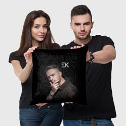 Подушка квадратная ЕГОР КРИД цвета 3D-принт — фото 2
