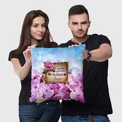 Подушка квадратная Лучшая Мама цвета 3D-принт — фото 2