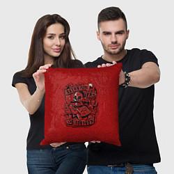 Подушка квадратная Тортуга цвета 3D-принт — фото 2