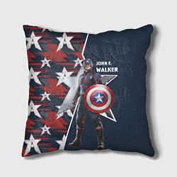 Подушка квадратная Marvel Капитан Америка цвета 3D — фото 1