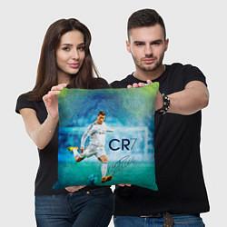 Подушка квадратная CR Ronaldo цвета 3D-принт — фото 2