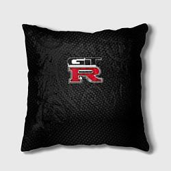 Подушка квадратная Nissan GTR цвета 3D — фото 1