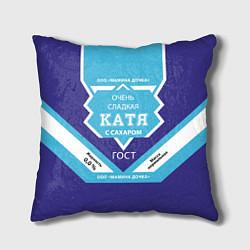 Подушка квадратная Сладкая Катя цвета 3D — фото 1