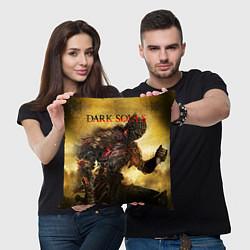 Подушка квадратная Dark Souls: Braveheart цвета 3D — фото 2