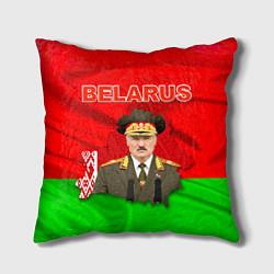 Подушка квадратная Belarus: Lukashenko цвета 3D-принт — фото 1
