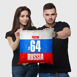 Подушка квадратная Russia: from 64 цвета 3D — фото 2