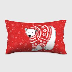Подушка-антистресс Новогодний медведь цвета 3D-принт — фото 1