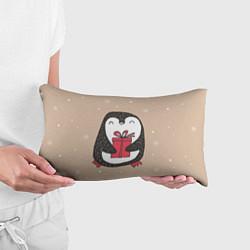 Подушка-антистресс Пингвин с подарком цвета 3D-принт — фото 2