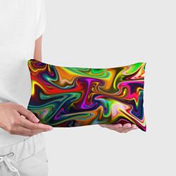 Подушка-антистресс Неоновые разводы цвета 3D — фото 2