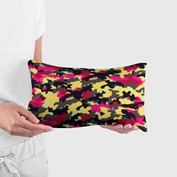 Подушка-антистресс Камуфляж: желтый/черный/розовый цвета 3D — фото 2