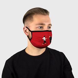 Маска для лица Криминальное чтиво цвета 3D-принт — фото 1