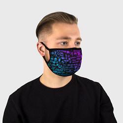 Маска для лица Неоновые лого игр цвета 3D — фото 1