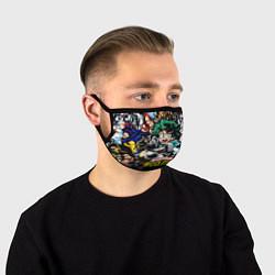 Маска для лица Моя геройская академия цвета 3D — фото 1