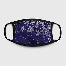 Маска для лица Новогодние снежинки цвета 3D — фото 2
