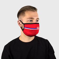 Маска для лица Сборная Сербии цвета 3D-принт — фото 1