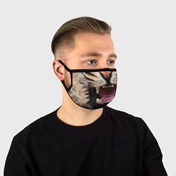 Маска для лица Взгляд леопарда цвета 3D-принт — фото 1