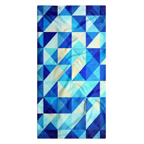 Бандана Синяя геометрия / 3D – фото 3