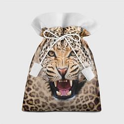 Мешок для подарков Взгляд леопарда цвета 3D — фото 1