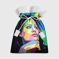 Мешок для подарков Angelina Jolie: Art цвета 3D — фото 1
