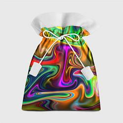Мешок для подарков Неоновые разводы цвета 3D — фото 1