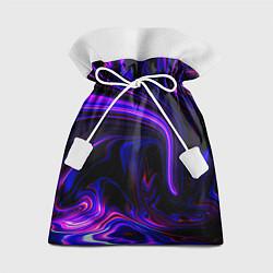 Мешок для подарков Цветные разводы цвета 3D — фото 1