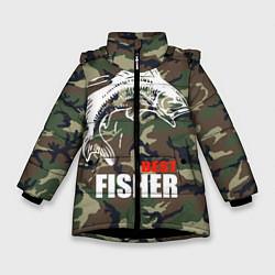 Куртка зимняя для девочки Best fisher цвета 3D-черный — фото 1