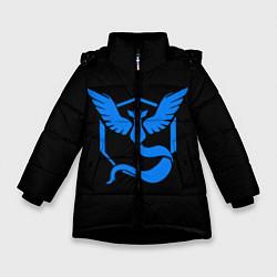 Куртка зимняя для девочки Pokemon Blue Team цвета 3D-черный — фото 1
