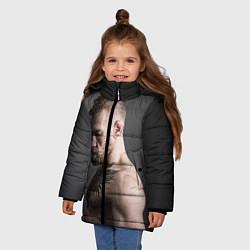 Детская зимняя куртка для девочки с принтом Конор Макгрегор, цвет: 3D-черный, артикул: 10102378706065 — фото 2