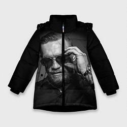 Детская зимняя куртка для девочки с принтом Стильный Макгрегор, цвет: 3D-черный, артикул: 10102382606065 — фото 1