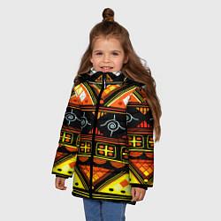 Куртка зимняя для девочки Element ethnic цвета 3D-черный — фото 2