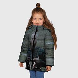 Куртка зимняя для девочки Vikings: Ragnarr Lodbrok цвета 3D-черный — фото 2