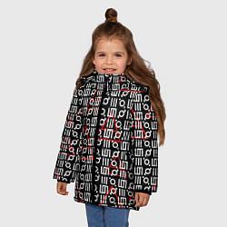 Детская зимняя куртка для девочки с принтом 30 STM: Symbol Pattern, цвет: 3D-черный, артикул: 10105693106065 — фото 2