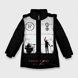 Куртка зимняя для девочки Twenty One Pilots: Lines цвета 3D-черный — фото 1