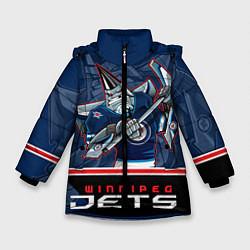 Куртка зимняя для девочки Winnipeg Jets цвета 3D-черный — фото 1