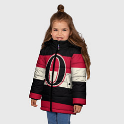 Куртка зимняя для девочки Ottawa Senators O цвета 3D-черный — фото 2