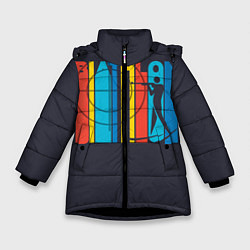 Куртка зимняя для девочки Радужный спорт цвета 3D-черный — фото 1