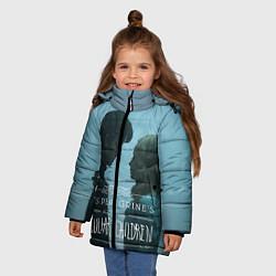 Куртка зимняя для девочки Джейкоб и Элла цвета 3D-черный — фото 2