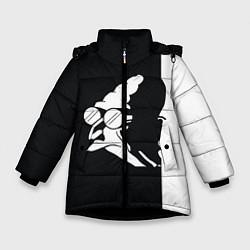 Куртка зимняя для девочки Grandfather: Black & White цвета 3D-черный — фото 1