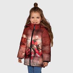 Куртка зимняя для девочки Manchester United цвета 3D-черный — фото 2