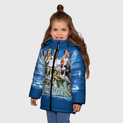 Куртка зимняя для девочки Real Madrid цвета 3D-черный — фото 2