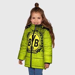 Куртка зимняя для девочки Borussia5 цвета 3D-черный — фото 2
