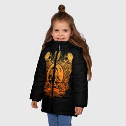 Куртка зимняя для девочки Milan6 цвета 3D-черный — фото 2