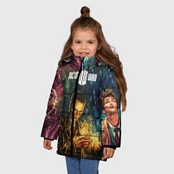 Куртка зимняя для девочки Dr who art цвета 3D-черный — фото 2