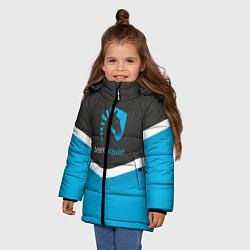 Детская зимняя куртка для девочки с принтом Team Liquid Uniform, цвет: 3D-черный, артикул: 10111391006065 — фото 2