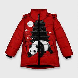 Куртка зимняя для девочки Panda Warrior цвета 3D-черный — фото 1