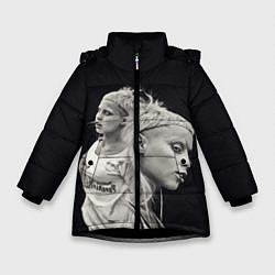 Куртка зимняя для девочки Die Antwoord: Black Girl цвета 3D-черный — фото 1