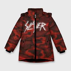 Куртка зимняя для девочки Slayer Texture цвета 3D-черный — фото 1